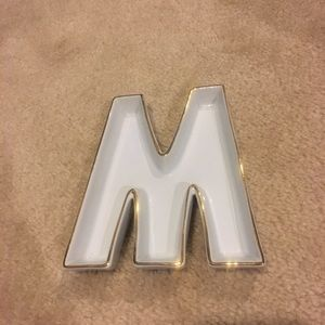 Letter M/W Catch All Dish